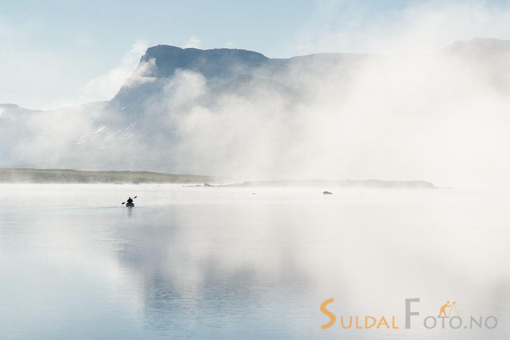 Kanopadler på Gunleikssvatnet, Hardangervidda